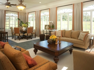 Living dining combo for How to decorate a living room and dining room combination